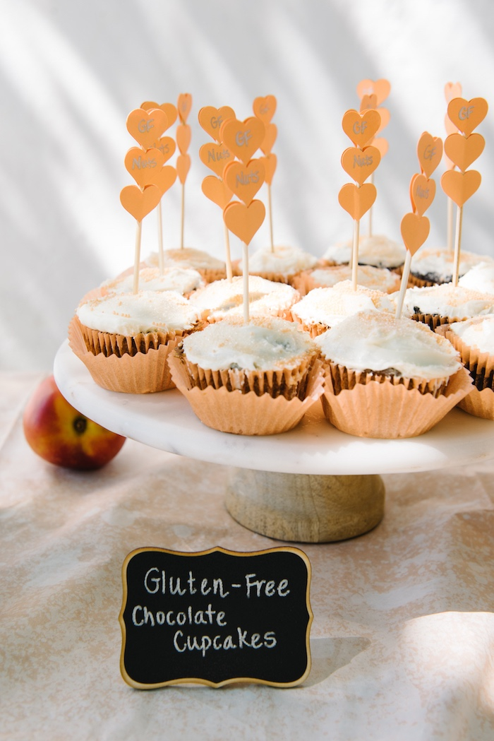 Cupcakes from a Sweet As A Peach 1st Birthday Party on Kara's Party Ideas | KarasPartyIdeas.com (20)