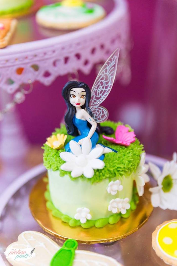 Silvermist cake from a Tinkerbell Fairy Garden Birthday Party on Kara's Party Ideas | KarasPartyIdeas.com (8)