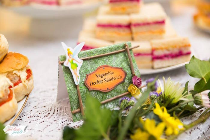 "A ""Tinker's"" food + sweet label from a Tinkerbell Fairy Garden Birthday Party on Kara's Party Ideas 