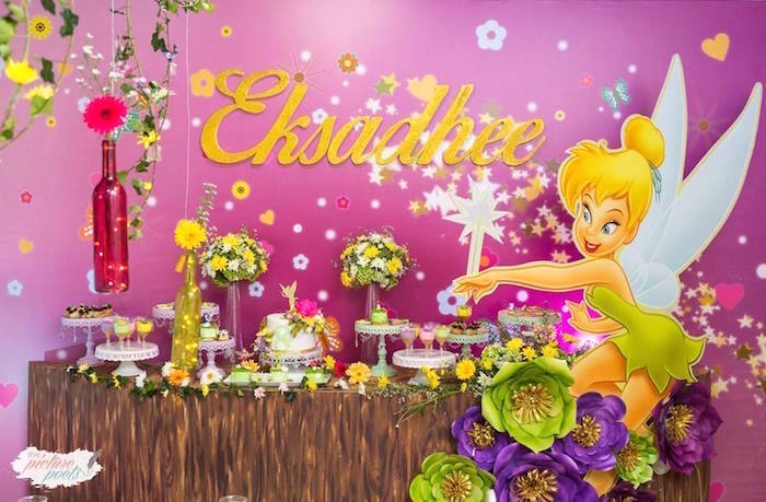 Tinkerbell Fairy Garden Birthday Party on Kara's Party Ideas | KarasPartyIdeas.com (12)