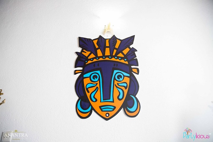 Tribal face decoration from a Tribal Wild ONE 1st Birthday Party on Kara's Party Ideas | KarasPartyIdeas.com (27)