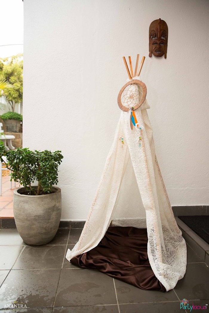 Teepee from a Tribal Wild ONE 1st Birthday Party on Kara's Party Ideas | KarasPartyIdeas.com (3)