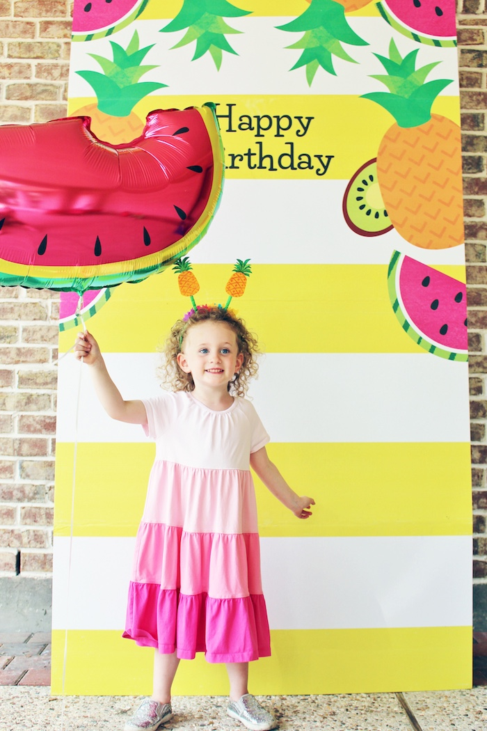 Photo standee from a Tutti Frutti Birthday Party on Kara's Party Ideas | KarasPartyIdeas.com (5)
