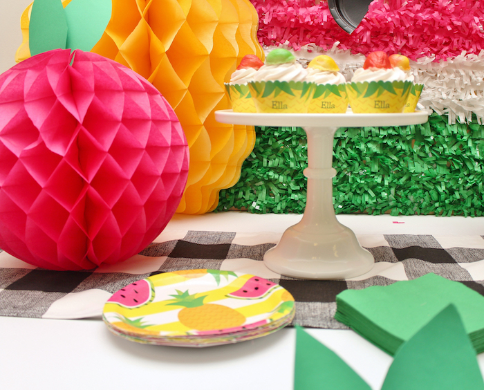 Partyware from a Tutti Frutti Birthday Party on Kara's Party Ideas | KarasPartyIdeas.com (14)