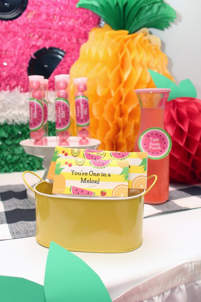 Tutti Frutti Favors from a Tutti Frutti Birthday Party on Kara's Party Ideas | KarasPartyIdeas.com (12)
