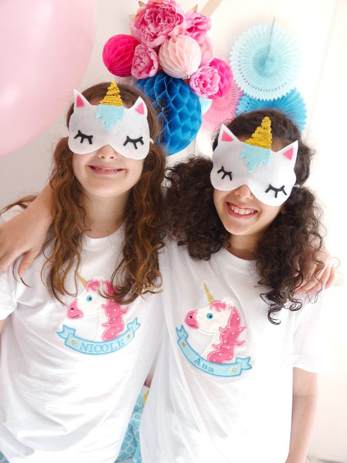 Unicorn sleep masks from a Unicorn Slumber Party on Kara's Party Ideas | KarasPartyIdeas.com (22)