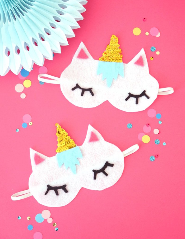 Unicorn sleep masks from a Unicorn Slumber Party on Kara's Party Ideas | KarasPartyIdeas.com (11)