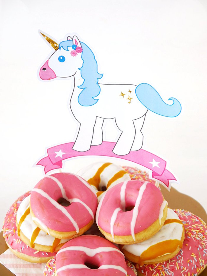 Doughnuts from a Unicorn Slumber Party on Kara's Party Ideas | KarasPartyIdeas.com (10)