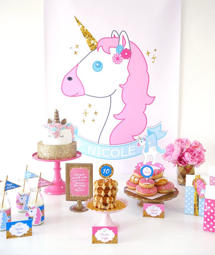 Unicorn Slumber Party on Kara's Party Ideas | KarasPartyIdeas.com (9)