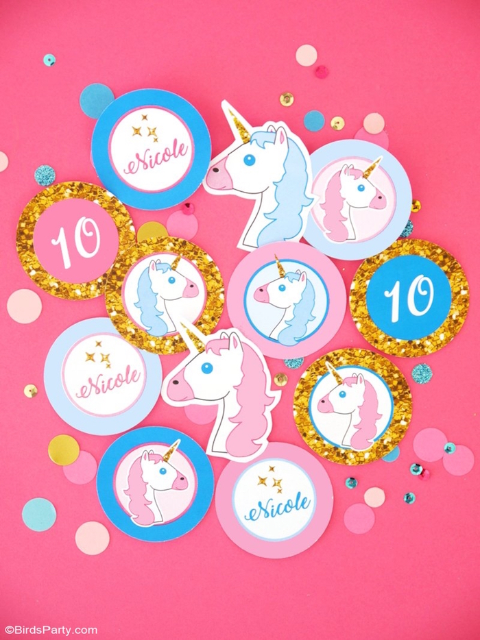 Unicorn party signage from a Unicorn Slumber Party on Kara's Party Ideas | KarasPartyIdeas.com (7)
