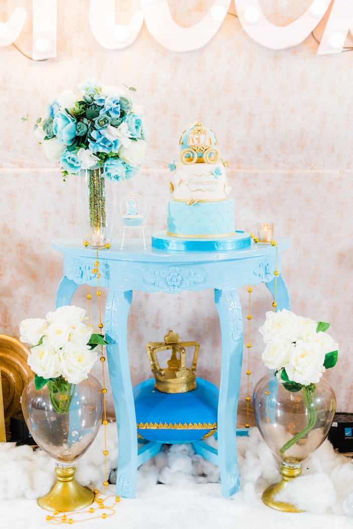 Kara 39 s party ideas vintage cinderella birthday party for 13 ka table