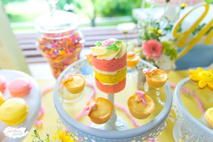 Pink + yellow sweets from a You Are My Sunshine Birthday Party on Kara's Party Ideas | KarasPartyIdeas.com (12)