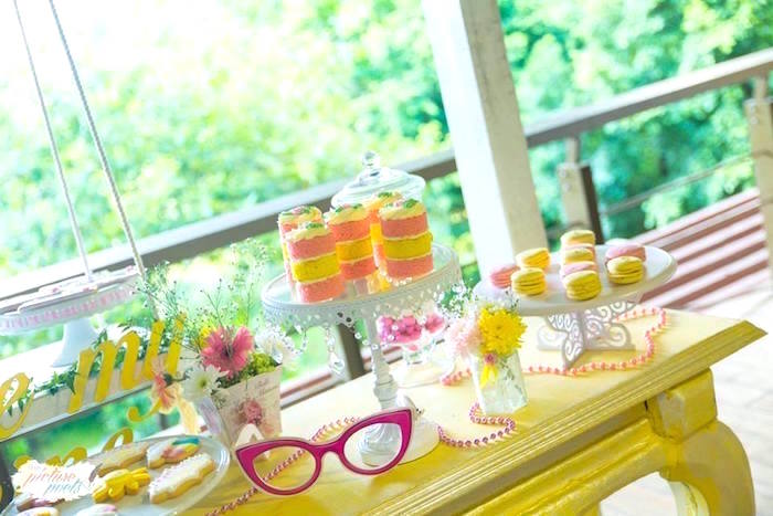 Sweet table from a You Are My Sunshine Birthday Party on Kara's Party Ideas | KarasPartyIdeas.com (9)