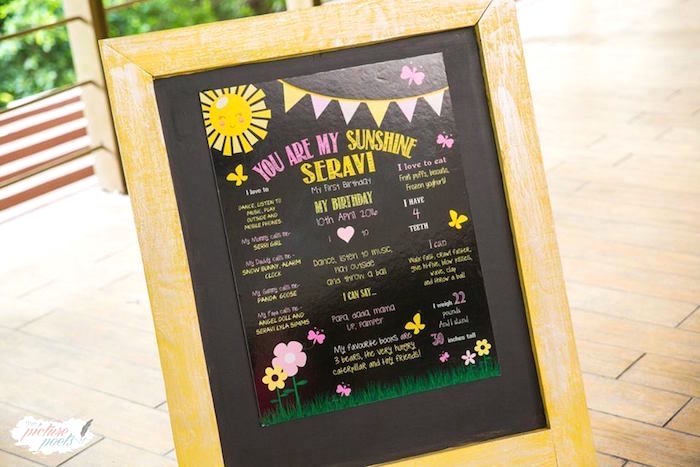 Highlight board from a You Are My Sunshine Birthday Party on Kara's Party Ideas | KarasPartyIdeas.com (16)