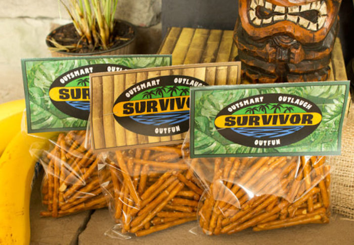 "Pretzels from a ""Survivor"" Themed Summer Party on Kara's Party Ideas | KarasPartyIdeas.com"