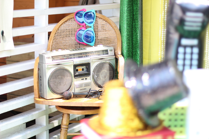 Old School Boom Box from a 1980's Themed Birthday Party on Kara's Party Ideas | KarasPartyIdeas.com (8)