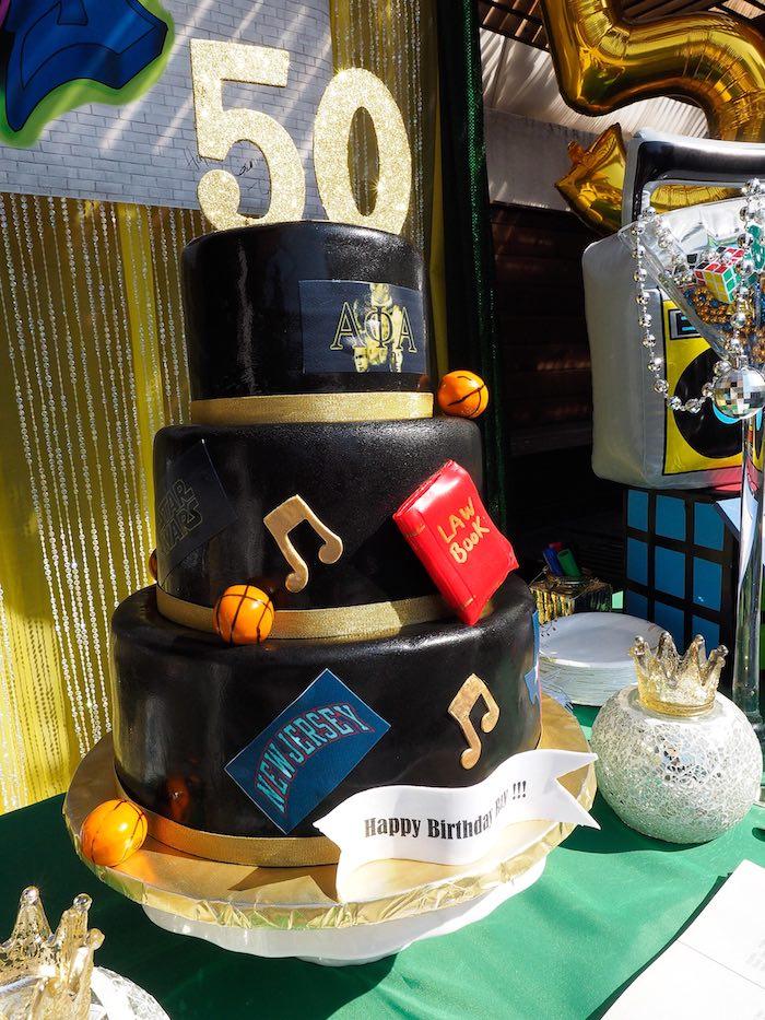 Cake from a 1980's Themed Birthday Party on Kara's Party Ideas   KarasPartyIdeas.com (1)