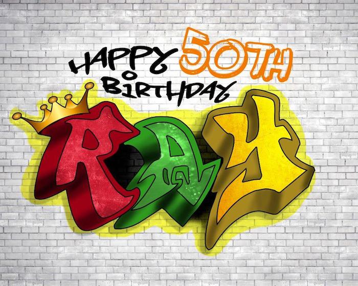 Custom graffiti print from a 1980's Themed Birthday Party on Kara's Party Ideas   KarasPartyIdeas.com (21)