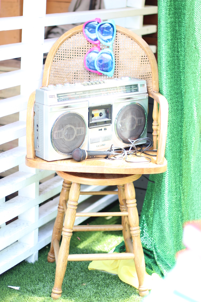 Boom Box from a 1980's Themed Birthday Party on Kara's Party Ideas | KarasPartyIdeas.com (20)