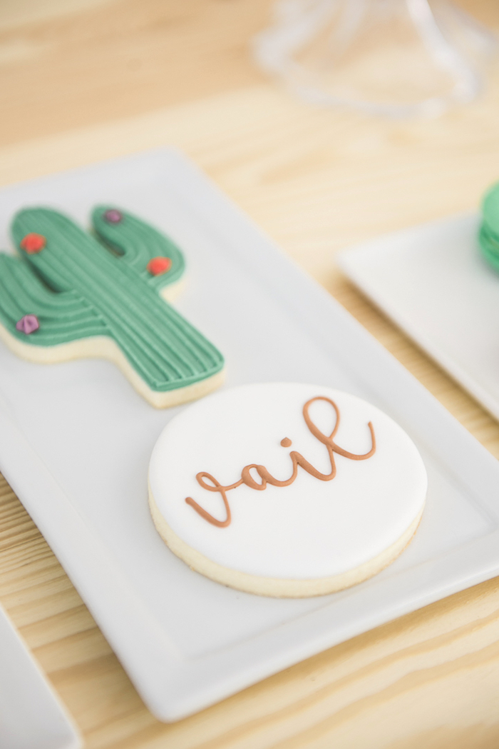 "Cookies from a ""Desert Love"" Cactus Themed Birthday Party on Kara's Party Ideas 