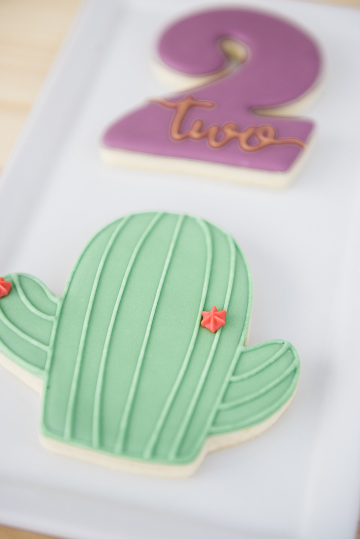 "Cactus cookies from a ""Desert Love"" Cactus Themed Birthday Party on Kara's Party Ideas 