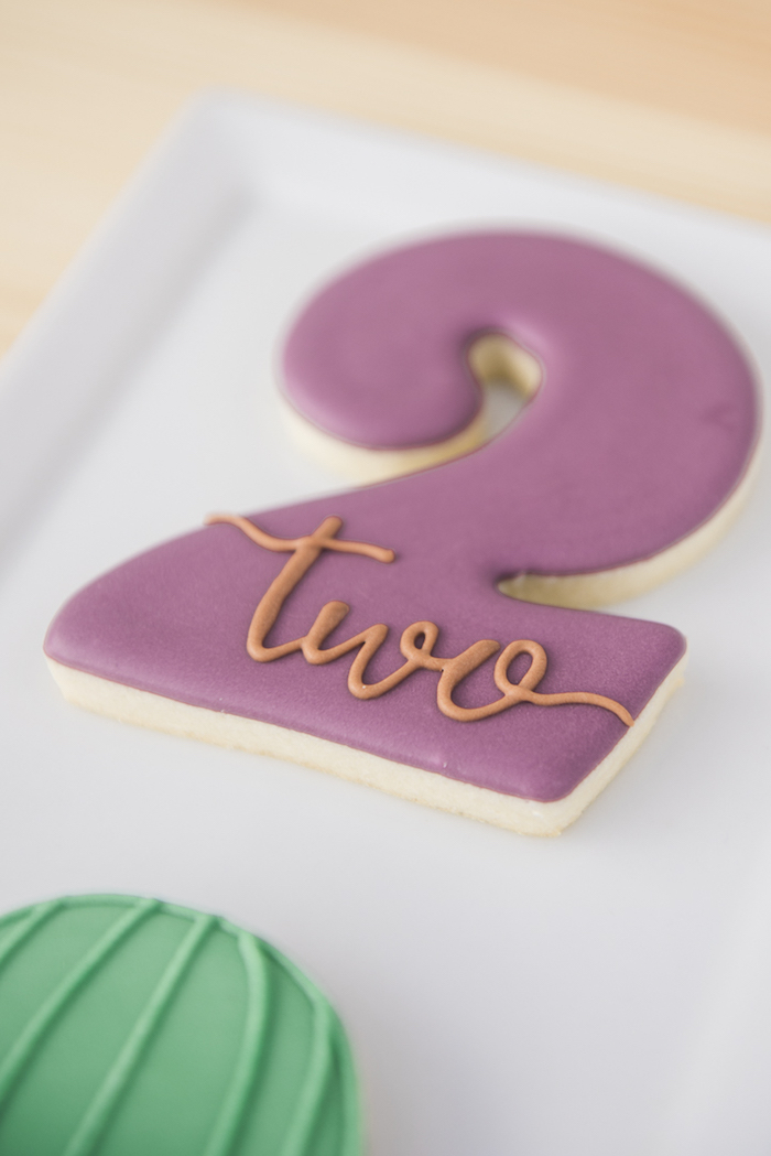 "Cookie from a ""Desert Love"" Cactus Themed Birthday Party on Kara's Party Ideas 