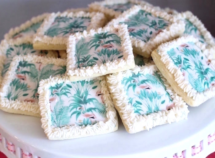 "Sugar cookies from ""It's Time to Flamingle"" Mother's Day Party on Kara's Party Ideas 