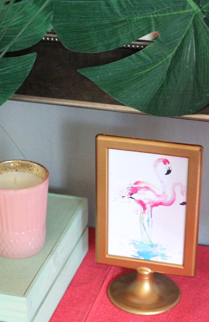 "Watercolor flamingo print from ""It's Time to Flamingle"" Mother's Day Party on Kara's Party Ideas 