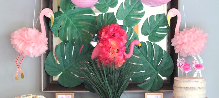 """It's Time to Flamingle"" Mother's Day Party on Kara's Party Ideas 