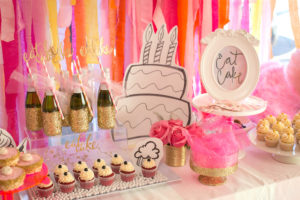 """Cake table from a """"Let Them Eat Cake"""" Birthday Party on Kara's Party Ideas 