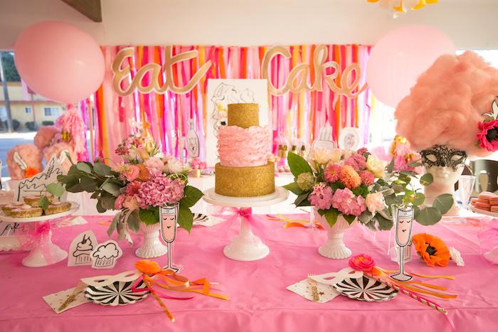 """Let Them Eat Cake"" Birthday Party on Kara's Party Ideas   KarasPartyIdeas.com (19)"