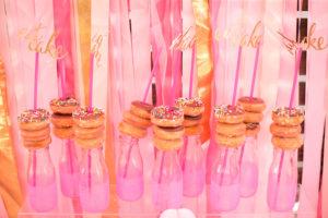 "Doughnut drinks from a ""Let Them Eat Cake"" Birthday Party on Kara's Party Ideas | KarasPartyIdeas.com (8)"