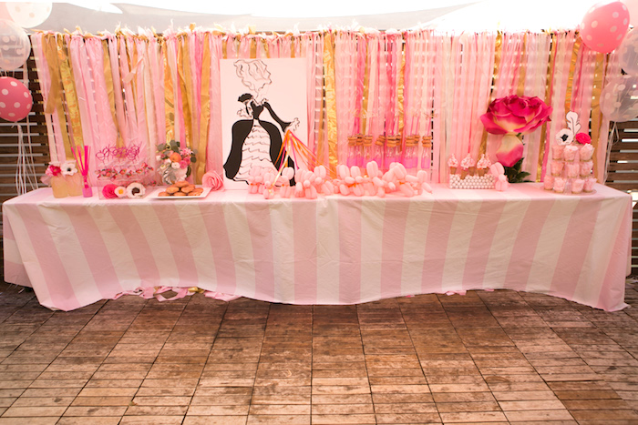 "Marie Antoinette Party Table from a ""Let Them Eat Cake"" Birthday Party on Kara's Party Ideas 