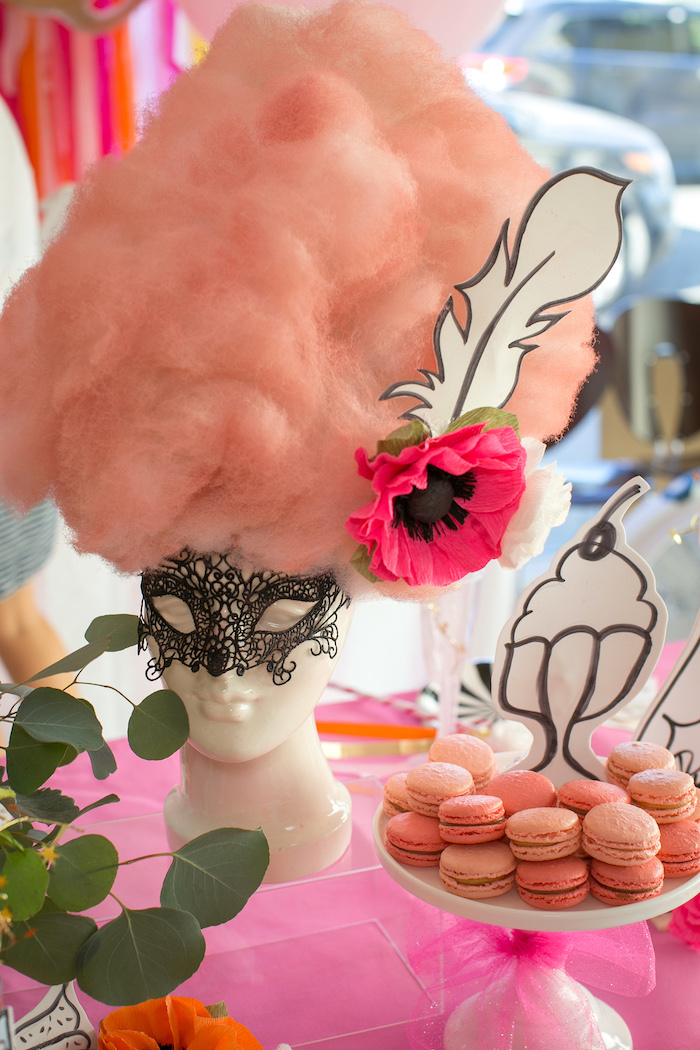 """Marie Antoinette Wig from a """"Let Them Eat Cake"""" Birthday Party on Kara's Party Ideas 
