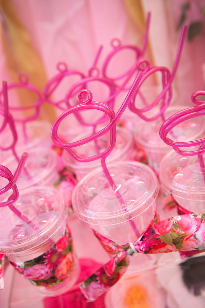 "Drink cups from a ""Let Them Eat Cake"" Birthday Party on Kara's Party Ideas 
