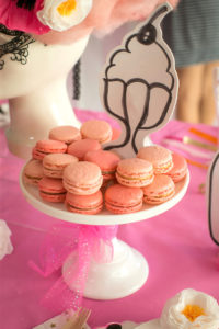 "Macarons from a ""Let Them Eat Cake"" Birthday Party on Kara's Party Ideas 