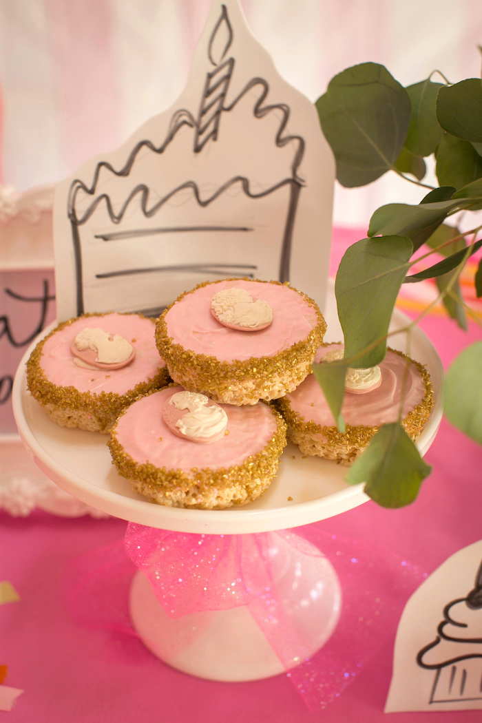 """Marie Antoinette Tarts from a """"Let Them Eat Cake"""" Birthday Party on Kara's Party Ideas 