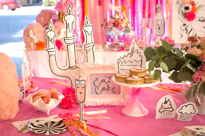 """Dessertscape from a """"Let Them Eat Cake"""" Birthday Party on Kara's Party Ideas 