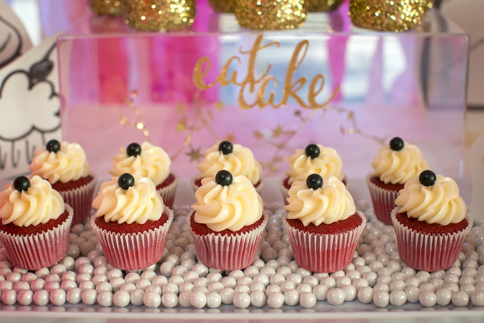 """Cupcakes from a """"Let Them Eat Cake"""" Birthday Party on Kara's Party Ideas 