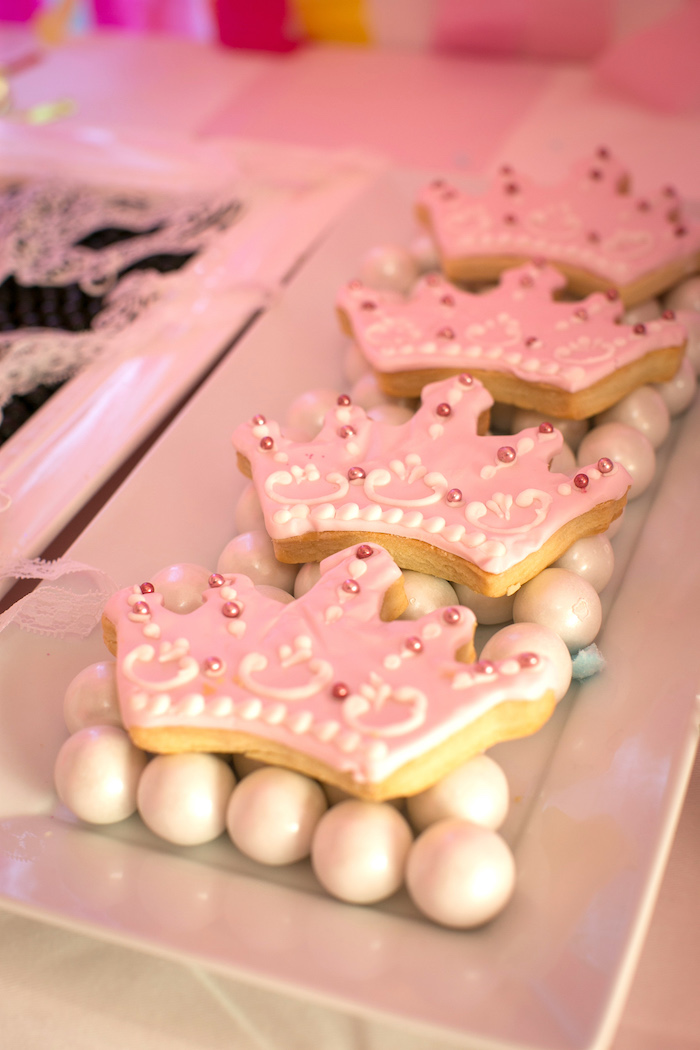 """Crown Cookies from a """"Let Them Eat Cake"""" Birthday Party on Kara's Party Ideas 