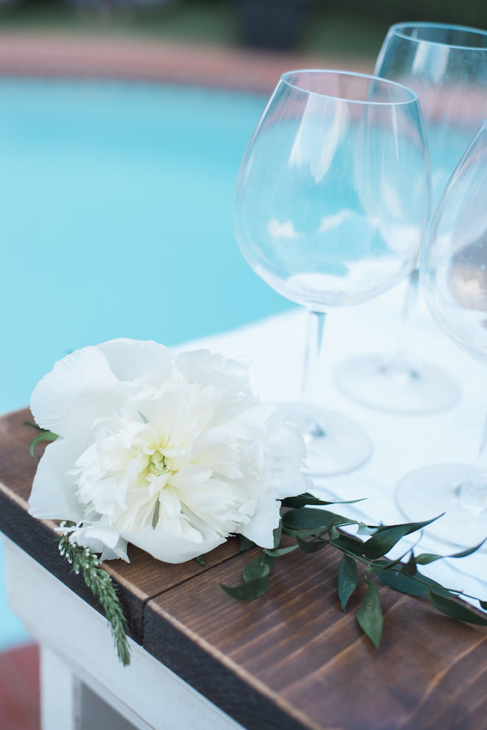 """White flower from a """"Love Your Tribe"""" Ladies Luncheon Party on Kara's Party Ideas 
