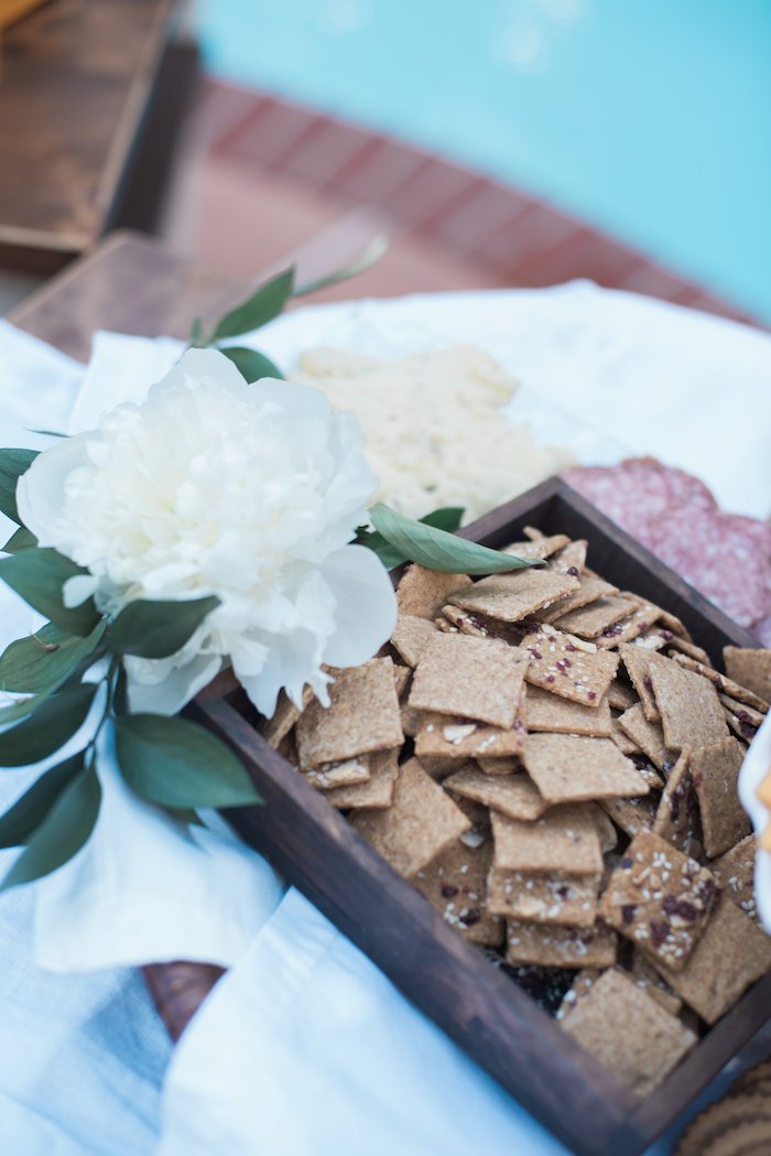 "Meat and cracker plate from a ""Love Your Tribe"" Ladies Luncheon Party on Kara's Party Ideas 