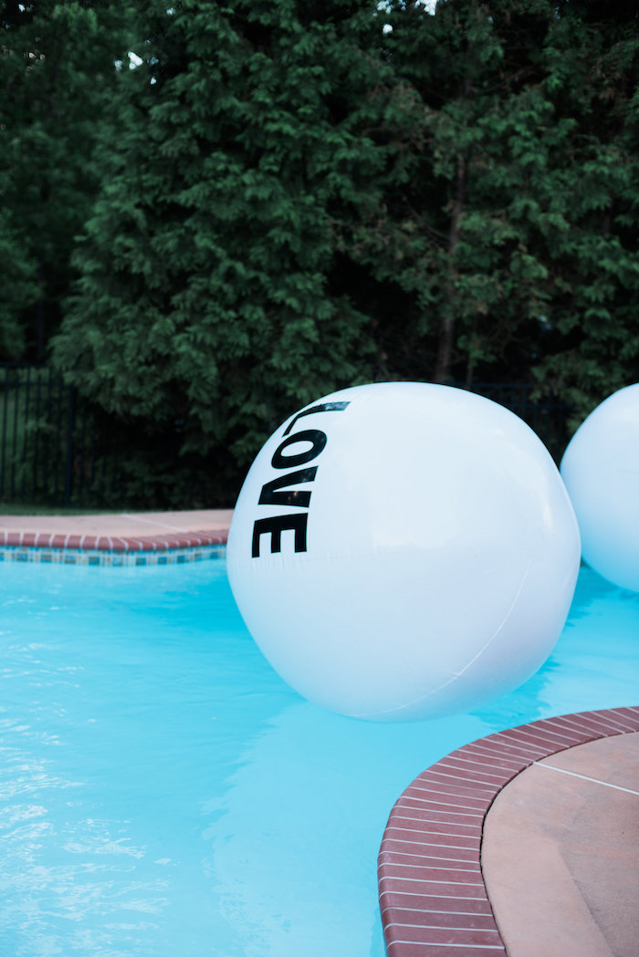 "Inflatable ball from a ""Love Your Tribe"" Ladies Luncheon Party on Kara's Party Ideas 