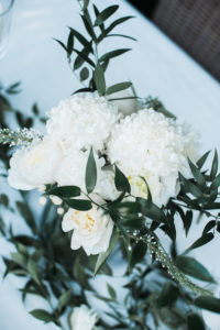 "White blooms from a ""Love Your Tribe"" Ladies Luncheon Party on Kara's Party Ideas 