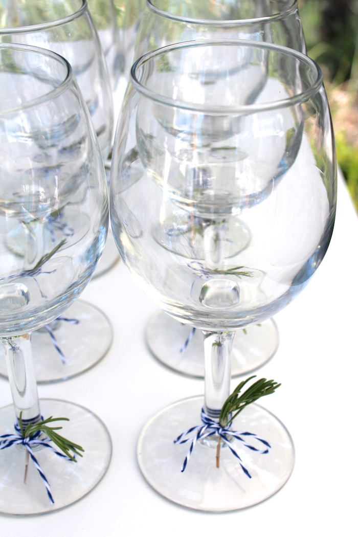 """Drink glasses from a """"One Happy Camper"""" First Birthday Party on Kara's Party Ideas 