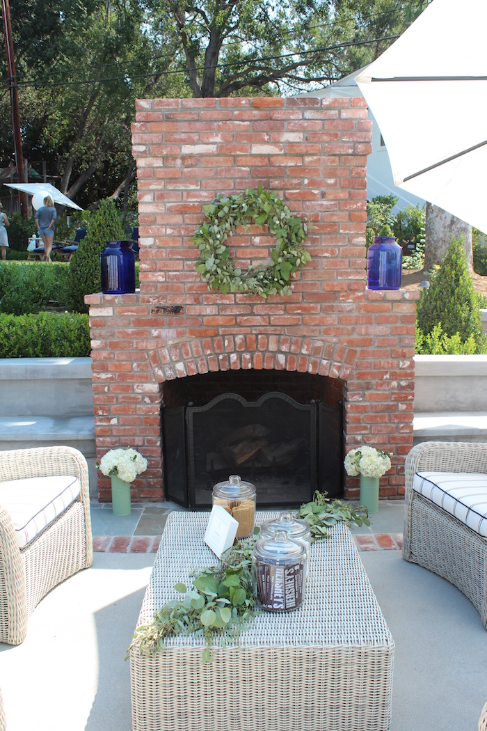 """Lounge area from a """"One Happy Camper"""" First Birthday Party on Kara's Party Ideas 