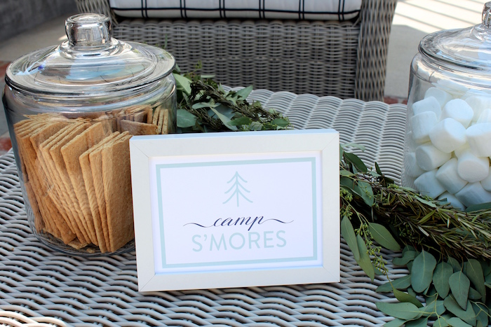 """S'mores from a """"One Happy Camper"""" First Birthday Party on Kara's Party Ideas 