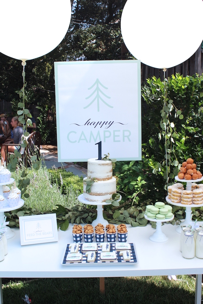"""One Happy Camper"" First Birthday Party on Kara's Party Ideas | KarasPartyIdeas.com (15)"