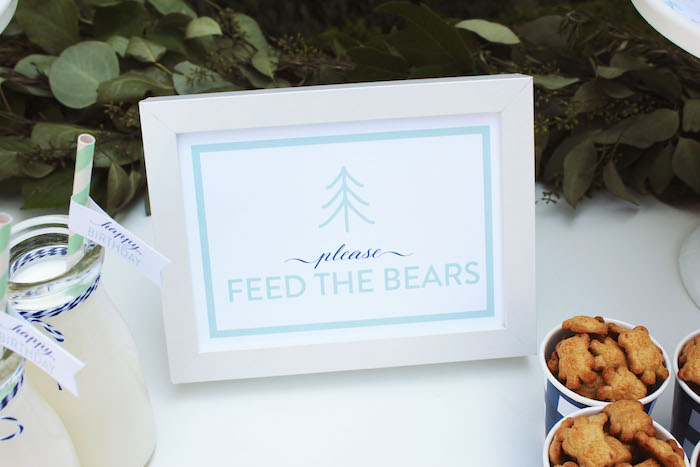 """Feed the Bears party print from a """"One Happy Camper"""" First Birthday Party on Kara's Party Ideas 