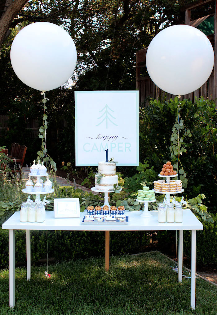 """One Happy Camper"" First Birthday Party on Kara's Party Ideas | KarasPartyIdeas.com (5)"